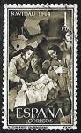 Stamps : Europe : Spain :  Navidad 1964 -Nacimiento Izurbarani