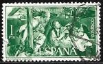 Stamps : Europe : Spain :  Navidad 1965 - nacimiento Mayno