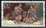 Stamps : Europe : Spain :  navidad 1966 - Cornejo
