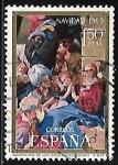 Stamps : Europe : Spain :  Navidad 1969 - Adoracion de los Reyes Magos - Maino