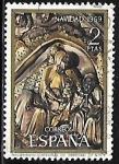 Stamps : Europe : Spain :  Navidad 1969 - Nacimiento - Catedral de Gerona