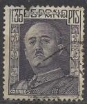 Stamps Spain -  1001_Genaral Franco