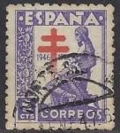 Sellos de Europa - España -  1008_Creuz de Lorena Pro tuberculosos