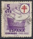 Stamps Europe - Spain -  1066_Pro toberculosos Galeón