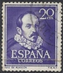 Stamps Europe - Spain -  1074_Literatos Ruiz de Alarcón