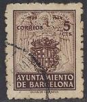 Stamps Europe - Spain -  1944_58_Barcelona_Escudo