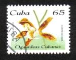 sello : America : Cuba : Orquídeas