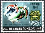 Stamps Asia - United Arab Emirates -  COOPERACIÓN  INTERNACIONAL  EN  LAS  OLIMPÍADAS.  GRENOBLE  1968