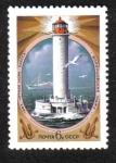 Sellos de Europa - Rusia -  Faros, Faro Vorontsov (Odessa, 1955)