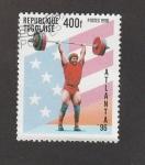 Stamps Africa - Togo -  J.O.Atlanta 96 .