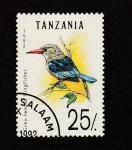 Stamps Africa - Tanzania -  Ave pescadora de cabeza gris