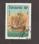 Stamps Africa - Tanzania -  Caravela
