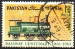 Stamps Asia - Pakistan -  CENTENARIO  DEL  FERROCARRIL  EN  PAKISTAN.  LOCOMOTORA  ÁGUILA.