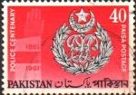 Stamps Pakistan -  CENTENARIO  DE  LA  FUERZA  POLICIAL.  CRESTA  Y  MANO.