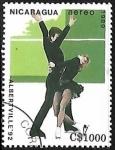 Sellos de America - Nicaragua -  Juegos Olímpicos de Invierno Albertville 1992 -  Patinaje Artístico