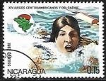 Sellos del Mundo : America : Nicaragua : 14th Juegos centroamericanos y del Caribe - Natación