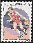 Sellos del Mundo : America : Nicaragua : Juegos Olímpicos de Seul  1988 - Baloncesto