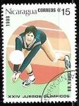 Sellos del Mundo : America : Nicaragua : Juegos Olímpicos de Seul 1988 - Voleibol