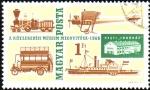 de Europa - Hungría -  MUSEO  DEL  TRANSPORTE  EN  BUDAPEST.  LOCOMOTORA  DE  VAPOR,ÓMNIBUS,VAPOR  DE  PALETAS,AVIÓN.