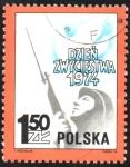 de Europa - Polonia -  SOLDADO  Y  PALIMA  DE  LA  PAZ
