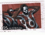 Sellos del Mundo : Oceania : Australia : Aboriginal Art  Body Decoration