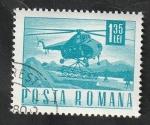 de Europa - Rumania -  2355 - Helicóptero