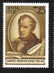 Stamps Europe - Russia -  Nacimiento Bicentenario de James Fenimore Cooper