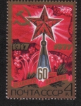 Stamps Russia -  60 aniversario de la Gran Revolución de Octubre