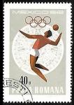 sello : Europa : Rumania : Juegos Olímpicos de Mexico 1968 - Volleyball
