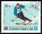 Sellos de Asia - Yemen -  Juegos Olímpicos de Invierno Grenoble  - Esqui