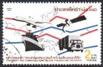 Sellos de Asia - Tailandia -  MAPA  Y  TRÁFICO  DE  MEDIOS  DE  COMUNICACIÓN