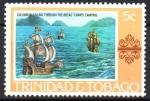 de America - Trinidad y Tobago -  COLÓN  NAVEGANDO  POR  LAS  BOCAS.  PINTURA DE  A.  CAMPS-CAMPINS.