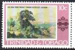 de America - Trinidad y Tobago -  VISTA  ANTIGUA  DEL  SITIO  ACTUAL  DE  TRINIDAD  HILTON  PINTURA  DE  JEAN  M.  CAZABÓN.