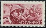 Sellos de Europa - Eslovaquia -  Soldados