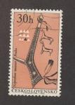 Stamps : Europe : Czechoslovakia :  1 Centenario del museo etnológico de Praga