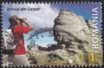Sellos de Europa - Rumania -  roca esfinge de Bucegi