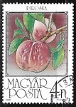 Stamps Hungary -  Frutas - Duraznos