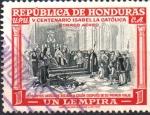 Stamps : America : Honduras :  500th  ANIVERSARIO  DE ISABEL  LA  CATÓLICA  DE  ESPAÑA