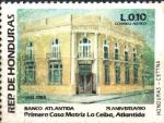 Stamps : America : Honduras :  75th  ANIVERSARIO  DEL  BANCO  ATLÁNTIDA