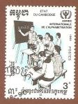 Sellos de Asia - Camboya -  1077
