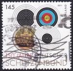 Stamps : Europe : Germany :  150 años asociación del tiro
