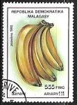 Stamps : Africa : Madagascar :  Frutas - Bananas