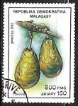 Stamps : Africa : Madagascar :  Frutas - Aguacates