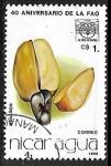 Stamps : America : Nicaragua :  Fruta - Caju