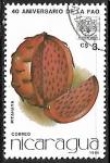 Stamps : America : Nicaragua :  Frutas - Pitahaya