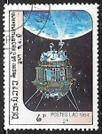 Sellos de Asia - Laos -  Exploración del Espacio - luna 3