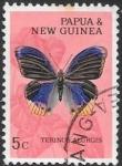 Stamps Oceania - Papua New Guinea -  mariposas
