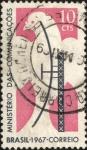 Stamps Brazil -  Radar aéreo y paloma.