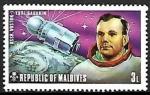Sellos del Mundo : Asia : Maldivas : Astronautas - Yuri Gagarin