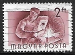 Stamps : Europe : Hungary :  Profesiones - Metalúrgica